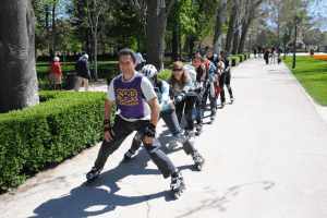 ruta en patines en Madrid