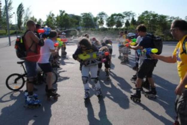 Fotos de la ruta del agua en patines