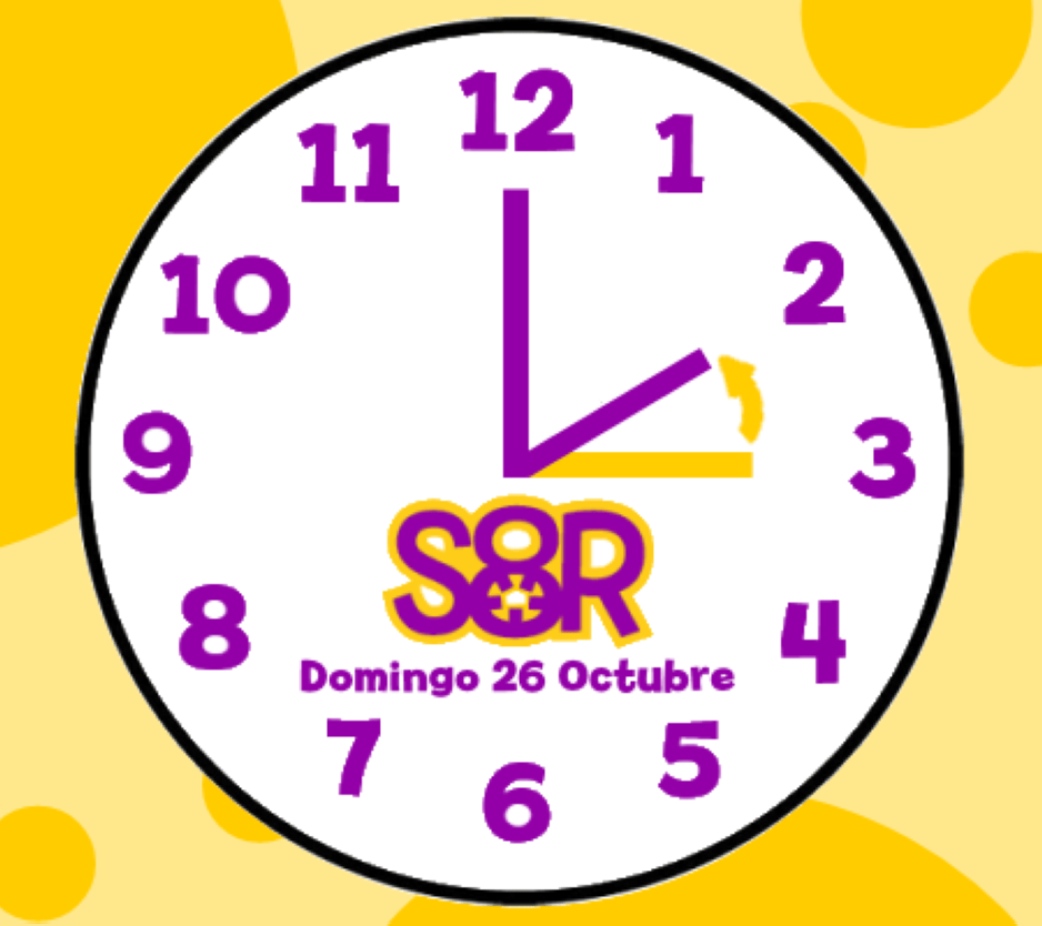 Cambio de hora este domingo 26 de Octubre