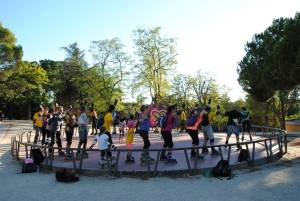 Empiezan las clases de patinaje en Aravaca
