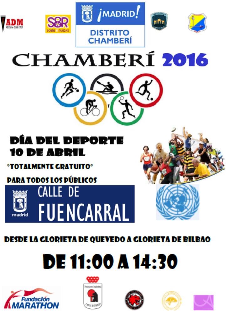 Patinaje y Hockey en el día del deporte de Chamberí