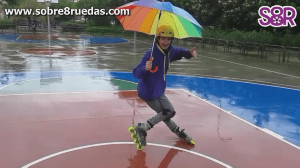 Derrapando bajo la lluvia