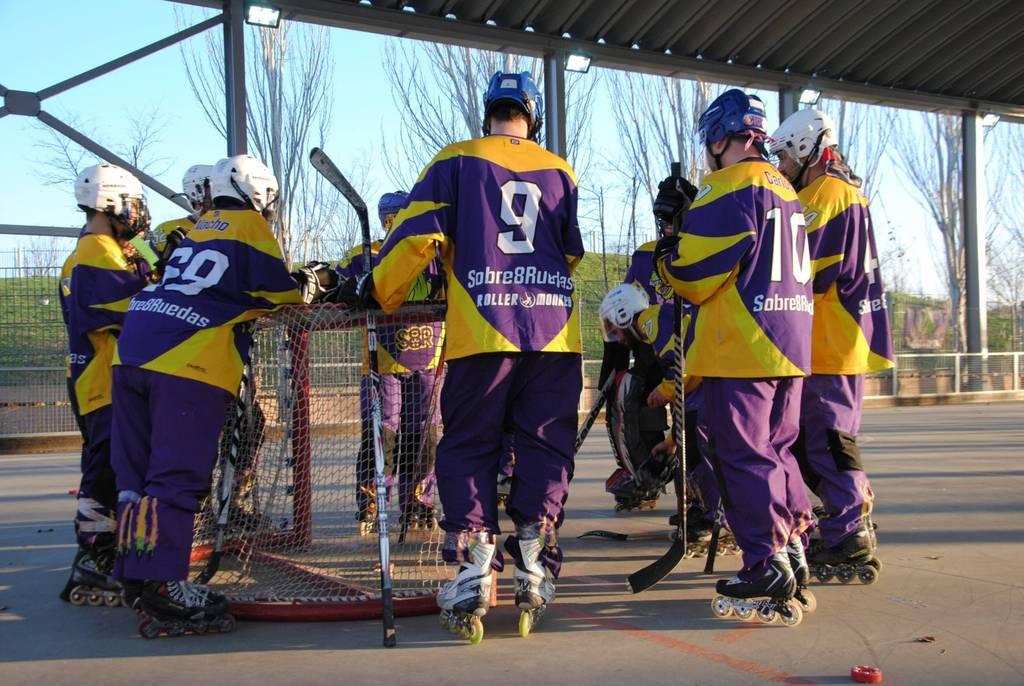 Equipos hockey l nea de madrid raptors clases de for Pistas de patinaje sobre ruedas en madrid